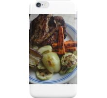 Barbecue meat and vegetables iPhone Case/Skin