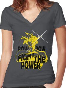 Kamina Tengen Toppa Gurren Lagann Women's Fitted V-Neck T-Shirt