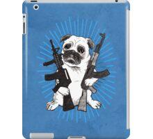 BAD dog – blue armed pug iPad Case/Skin