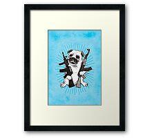 BAD dog – blue armed pug Framed Print