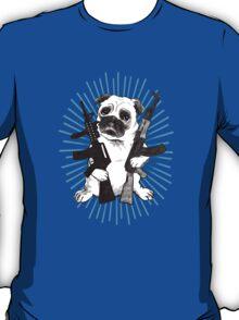 BAD dog – blue armed pug T-Shirt