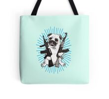 BAD dog – blue armed pug Tote Bag