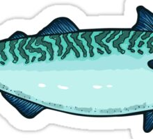 Tasty mackerel pattern Sticker