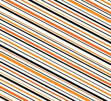 Black and orange stripes by Mhea