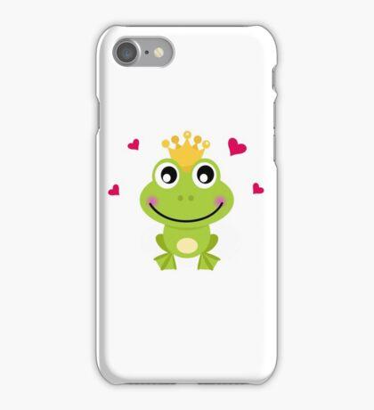 Frog prince. Vector cartoon illustration / New art in atelier iPhone Case/Skin