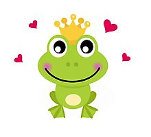 Frog prince. Vector cartoon illustration / New art in atelier Photographic Print