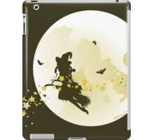 Flying Witch over Full Moon iPad Case/Skin