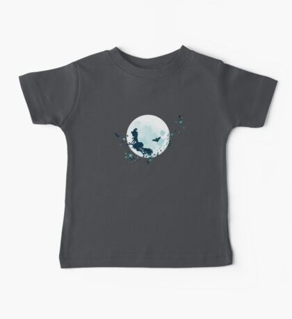 Flying Witch over Full Moon 2 Baby Tee