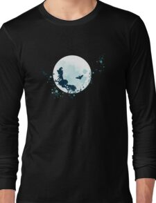 Flying Witch over Full Moon 2 Long Sleeve T-Shirt