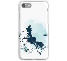 Flying Witch over Full Moon 2 iPhone Case/Skin