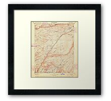 USGS TOPO Map California CA Big Trees 299219 1901 125000 geo Framed Print