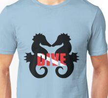 Seahorse scuba diving Unisex T-Shirt
