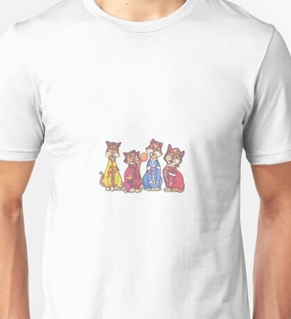The Beatles as cats Unisex T-Shirt