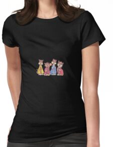 The Beatles as cats Womens Fitted T-Shirt