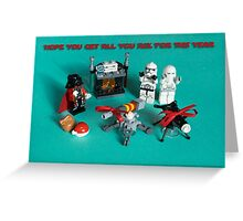 Darth Santa Did Good Greeting Card
