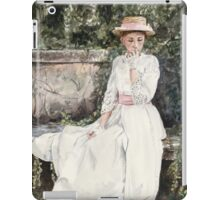 Vintage Elegance watercolour painting by Paris Lomé iPad Case/Skin