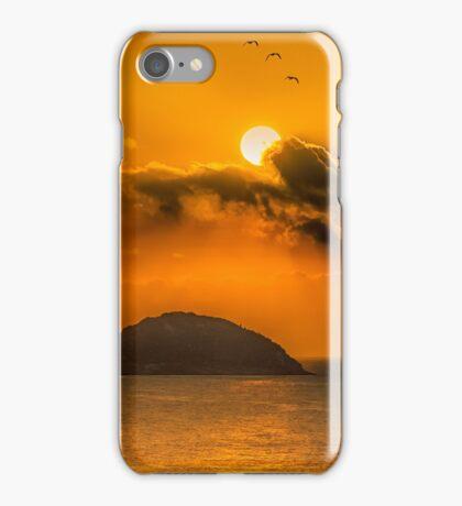 Sunrise and gulls over the Island iPhone Case/Skin