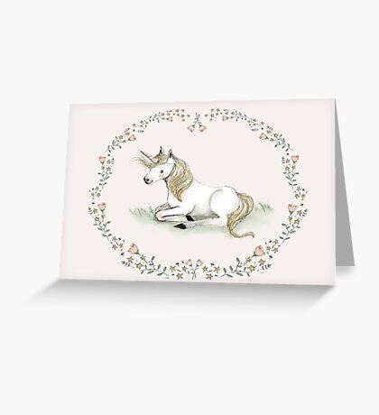 Unicorn,  Nursery art - Nursery decor - Kids room decor - Children's art Greeting Card