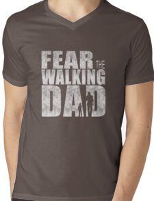 Fear The Walking Dad Cool TV Shower Fans Design Mens V-Neck T-Shirt