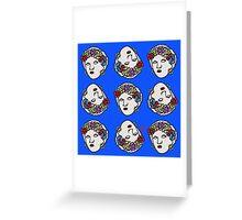 The Greek gipsy pattern Greeting Card