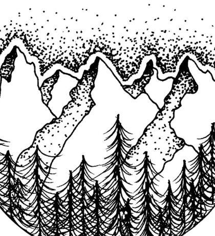 Mountains 2 Sticker