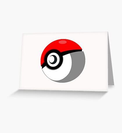 Pokeball Vector Greeting Card
