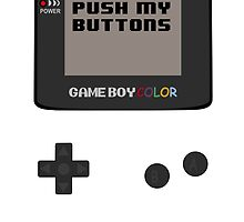 Nintendo - Don't Push My Buttons (Gameboy Color) by Erin Muldoon