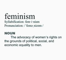 Feminism definition black font by dragon-s