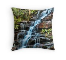 Aqua Veil, Somersby Falls Throw Pillow