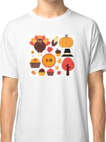 Thanksgiving items set. Vector Illustration Classic T-Shirt