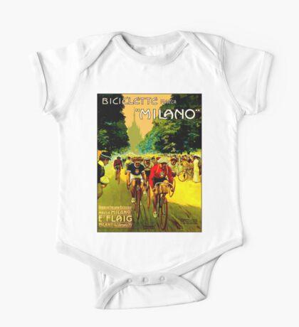 MILANO VINTAGE; Bicycle Racing Advertising Print One Piece - Short Sleeve