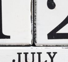 July 12 Sticker
