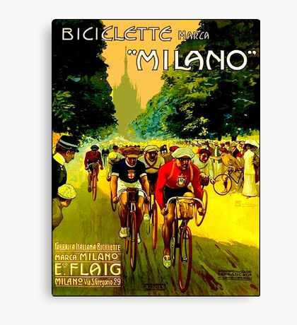 MILANO VINTAGE; Bicycle Racing Advertising Print Canvas Print
