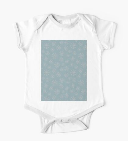 Silver snowflakes One Piece - Short Sleeve