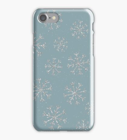 Silver snowflakes iPhone Case/Skin