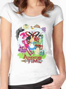 Fionna and Cake - Alice in wonderland Women's Fitted Scoop T-Shirt