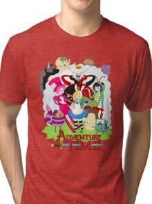 Fionna and Cake - Alice in wonderland Tri-blend T-Shirt