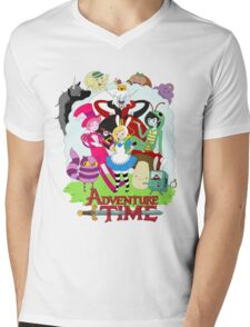 Fionna and Cake - Alice in wonderland Mens V-Neck T-Shirt