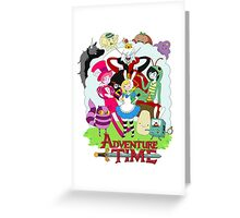 Fionna and Cake - Alice in wonderland Greeting Card