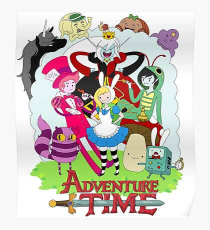 Fionna and Cake - Alice in wonderland Poster