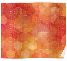 Red/orange modern abstract pattern Poster