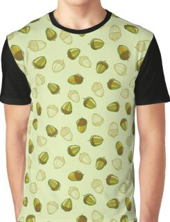 Green acorns pattern Graphic T-Shirt