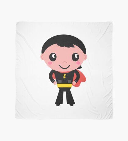 Cute young Super hero boy. Vector Illustration Scarf