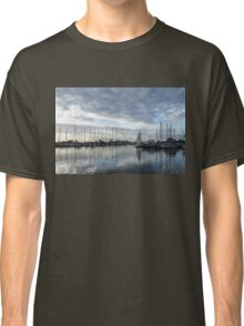 Soft Silver Morning - Reflecting on Sails and Yachts Classic T-Shirt