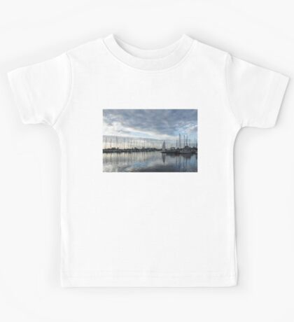 Soft Silver Morning - Reflecting on Sails and Yachts Kids Tee