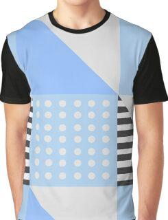 Simple Blue Scandinavian Pattern Graphic T-Shirt