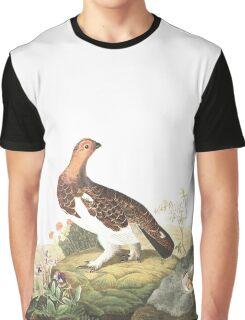Willow Ptarmigan - John James Audubon Graphic T-Shirt
