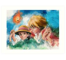 One Magical Family Sophie and Howl Art Print