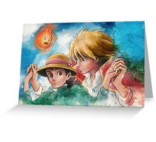 One Magical Family Sophie and Howl Greeting Card