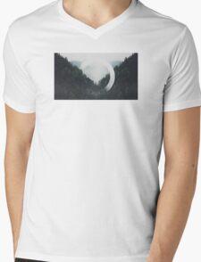 Trees n Fog Mens V-Neck T-Shirt
